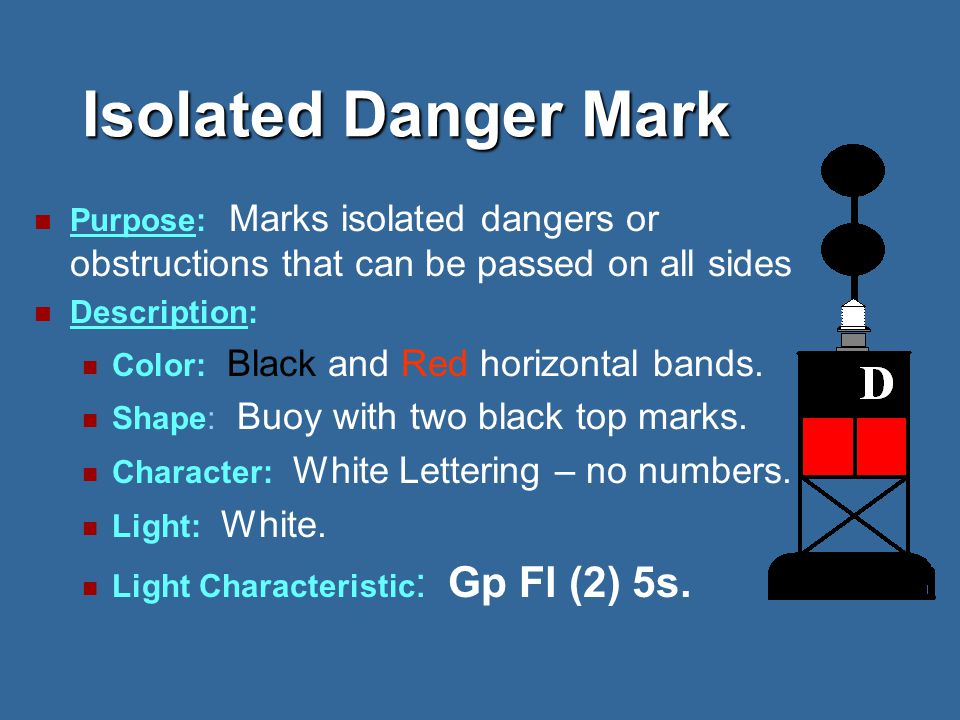 Lighted Safe Water Mark