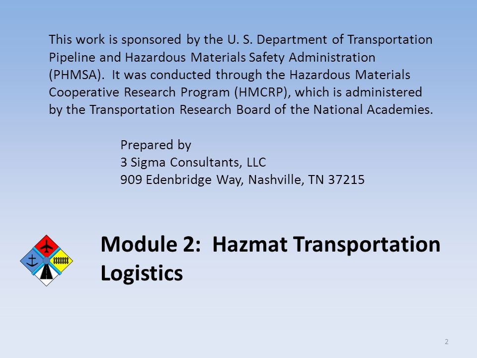 Hypothetical Shipment: Supply Chain Roles Railroad (continued) Maintain shipping documents Maintain emergency response information Transport to interchange with another railroad Inspect car at interchange Transfer shipping documents to second carrier Second railroad places car in appropriate position within train Deliver to manufacturer Manufacturer (Incoming) Accept car and inspect Accept shipping papers Unload car Store commodities in approved manner 63