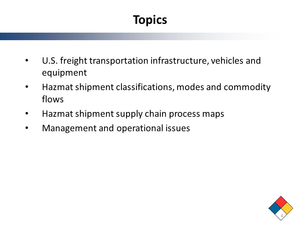 55 HM Shipment Supply Chain - Process Map Element Descriptions: Activity Identifiers, Roles and Definitions Source: William Tate, et al., Evaluation of the Use of Electronic Shipping Papers for Hazardous Materials Shipments, HMCRP Report 8, Transportation Research Board, Washington DC, 2012.