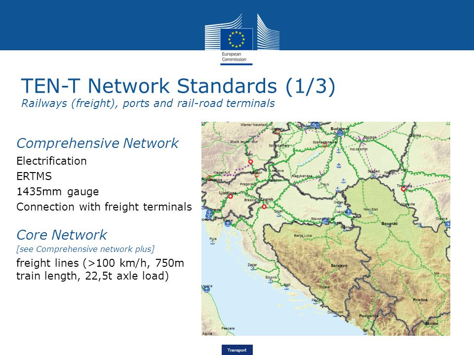 Transport CEF in Croatia €159.7 million national Cohesion envelope Pre-identified projects in Annex I Mediterranean Corridor Rhine-Danube Corridor Other core network sections Horizontal priorities Rijeka – Zagreb – BudapestRail – Studies and works (including construction of new track and second track between Rijeka and HU border ) RijekaPort - Infrastructure upgrading and development, development of multimodal platforms and interconnections Slavonski BrodPort – Studies and works Danube IWW - Studies and works on several sections and bottlenecks; inland waterway ports: multimodal interconnections SavaIWW - Studies and works on several sections and bottlenecks (including cross-border bridge) Dubrovnik – HR/ME borderCross-border road - Works Zagreb – SR borderBottleneck rail – Studies and works