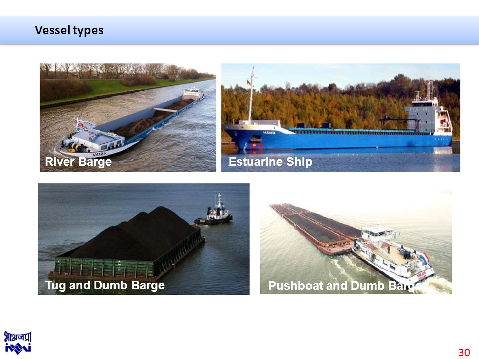 Vessel types Tug and Dumb Barge Estuarine Ship Pushboat and Dumb Barges River Barge 30