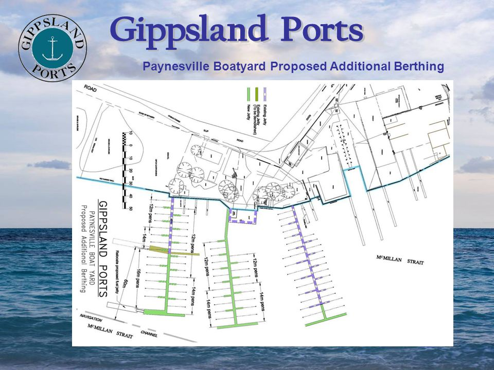 Paynesville Boatyard Proposed Additional Berthing