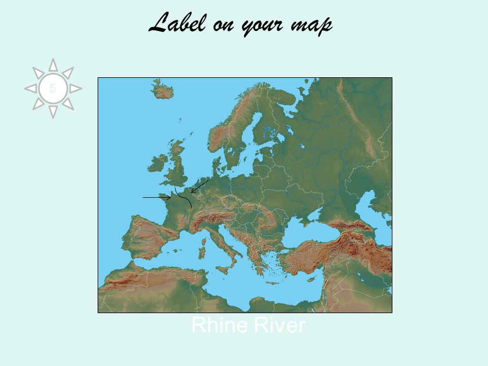 Label on your map Rhine River 5