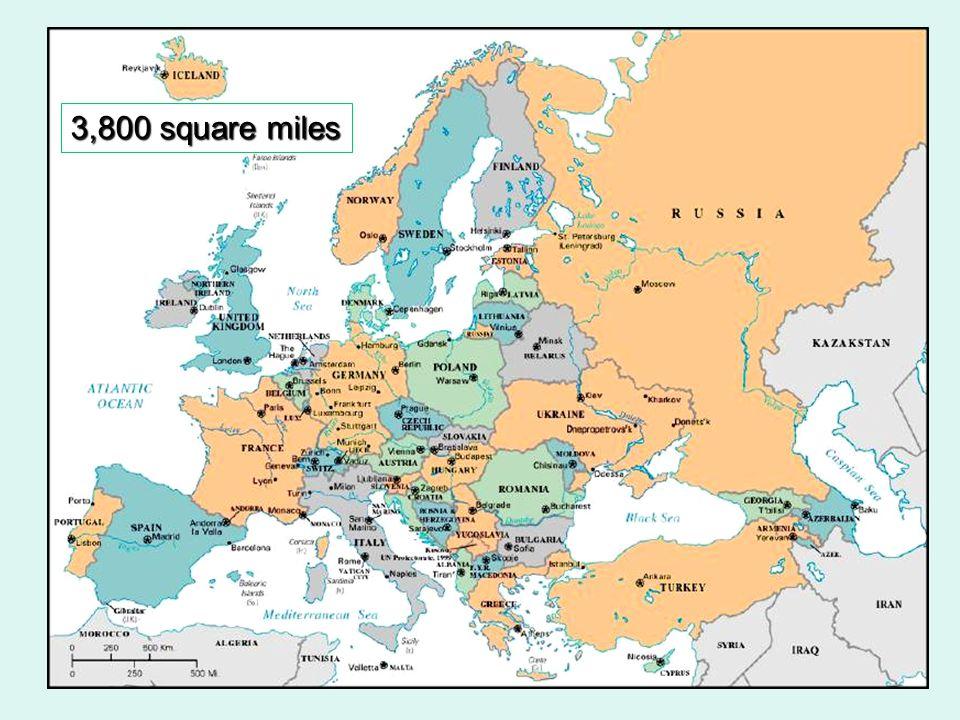 Physical Map of Europe European Plain