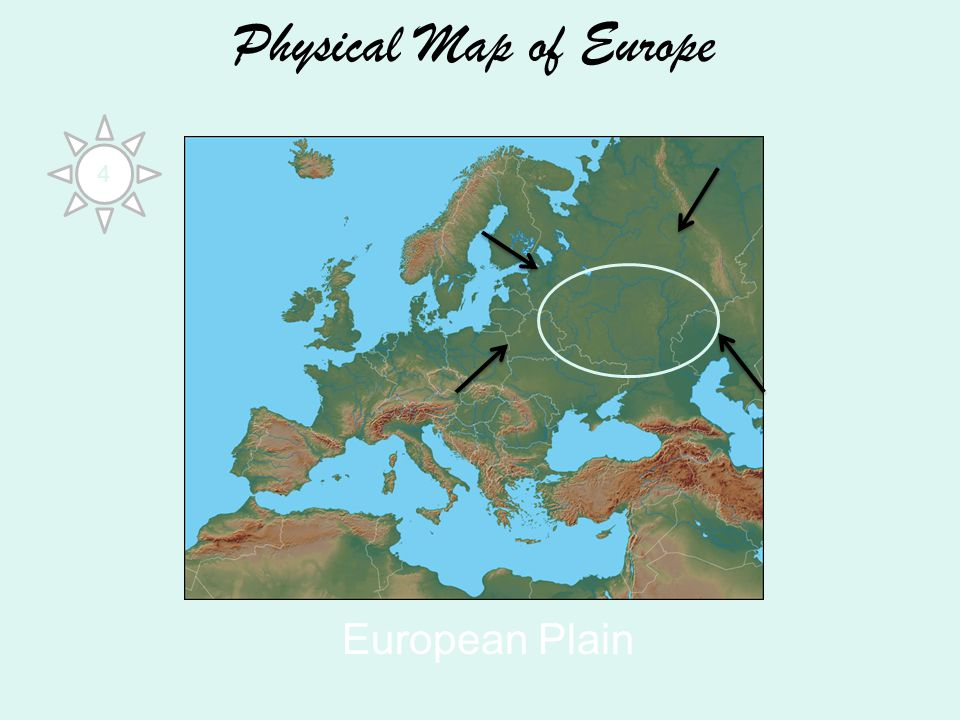 Physical Map of Europe European Plain 4