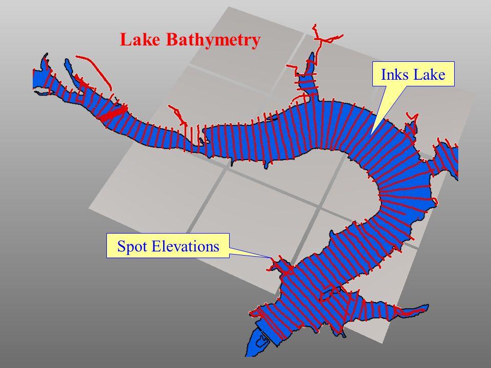 Lake Bathymetry Inks Lake Spot Elevations