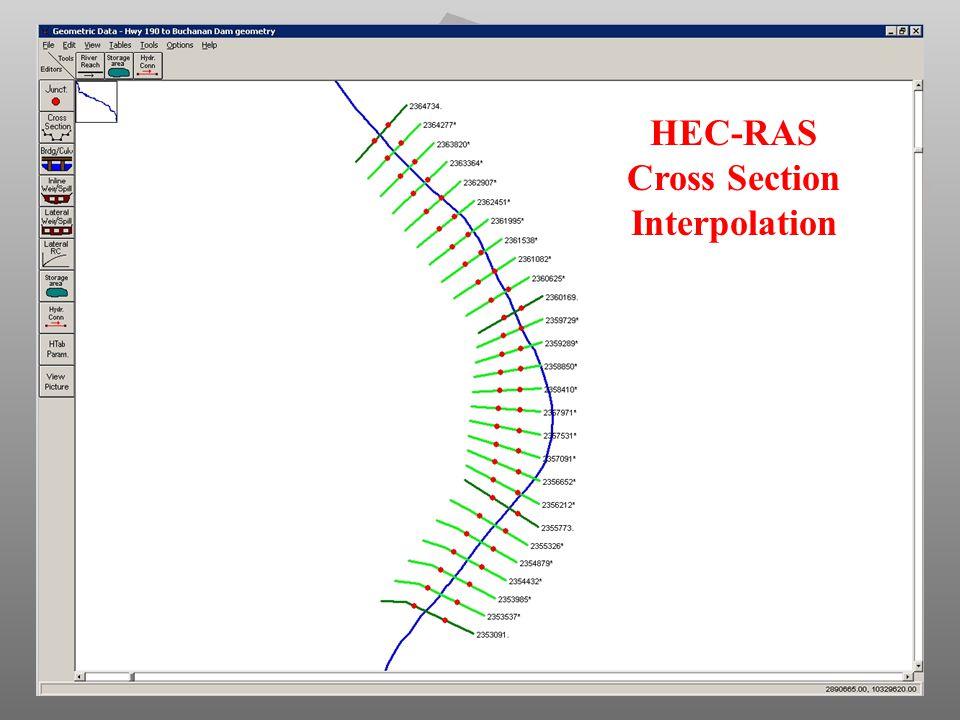 HEC-RAS Cross Section Interpolation