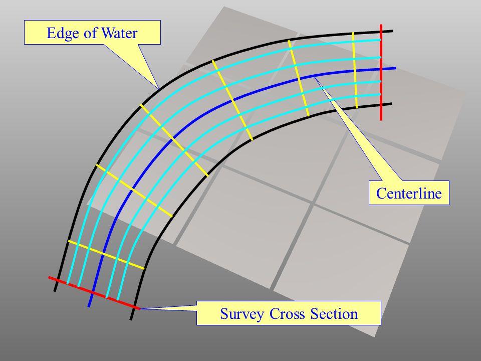 Centerline Edge of Water Survey Cross Section