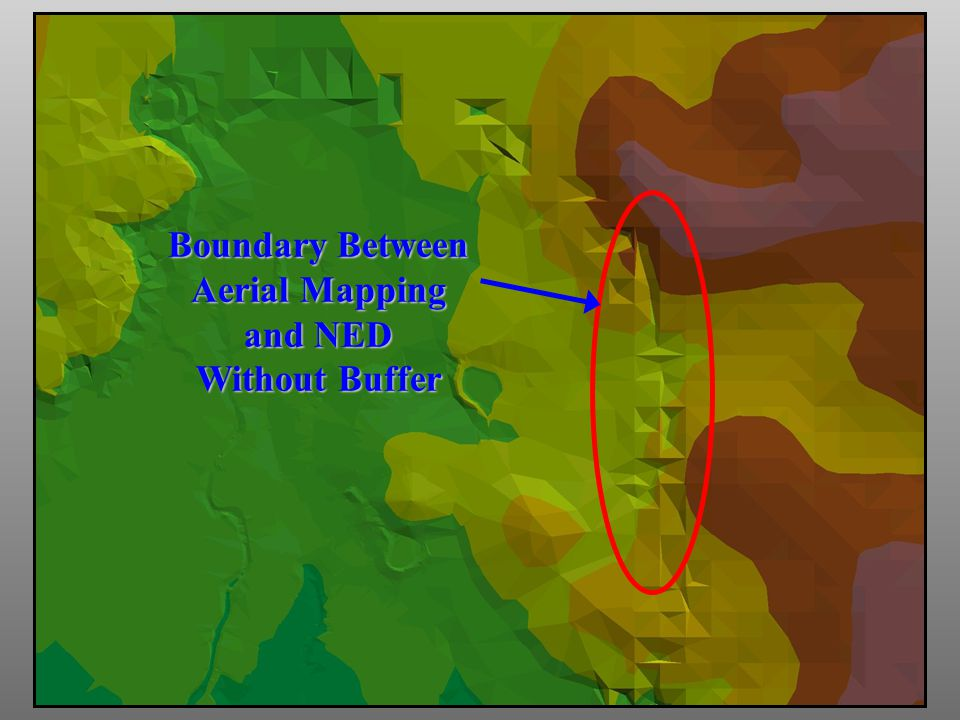 Boundary Between Aerial Mapping and NED Without Buffer