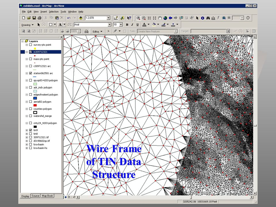 Wire Frame of TIN Data Structure