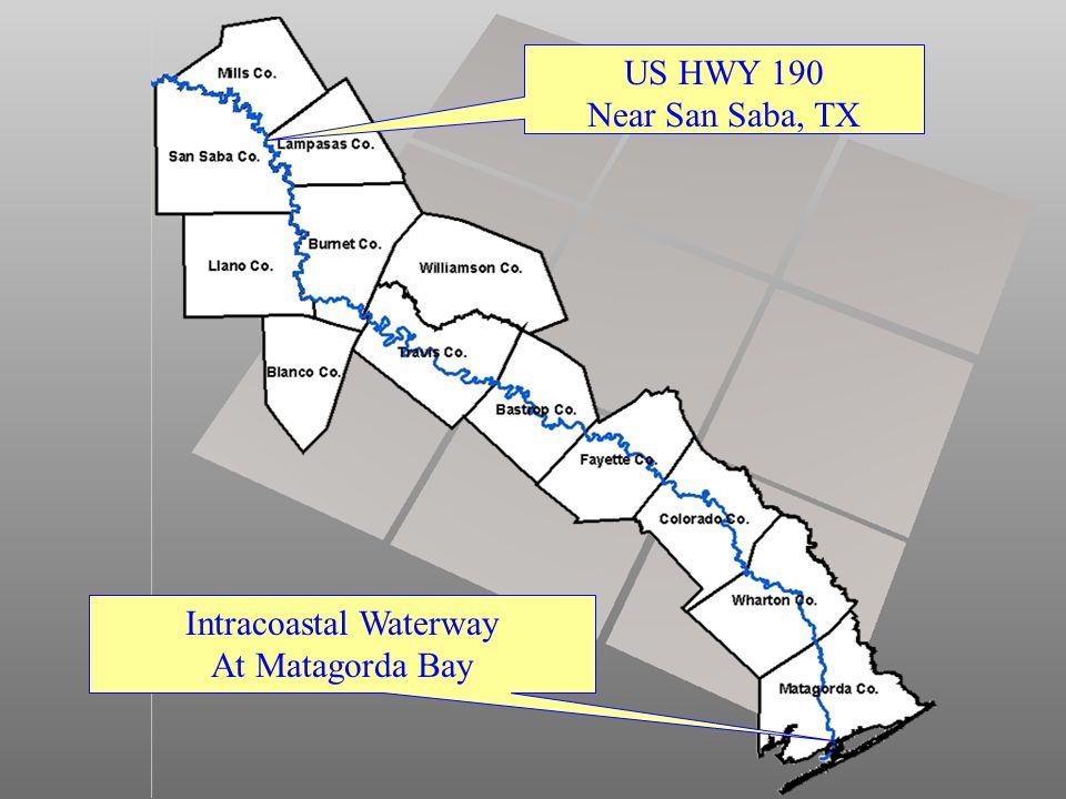 US HWY 190 Near San Saba, TX Intracoastal Waterway At Matagorda Bay