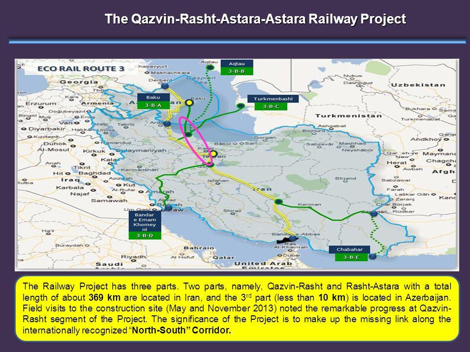 The Qazvin-Rasht-Astara-Astara Railway Project The Railway Project has three parts.