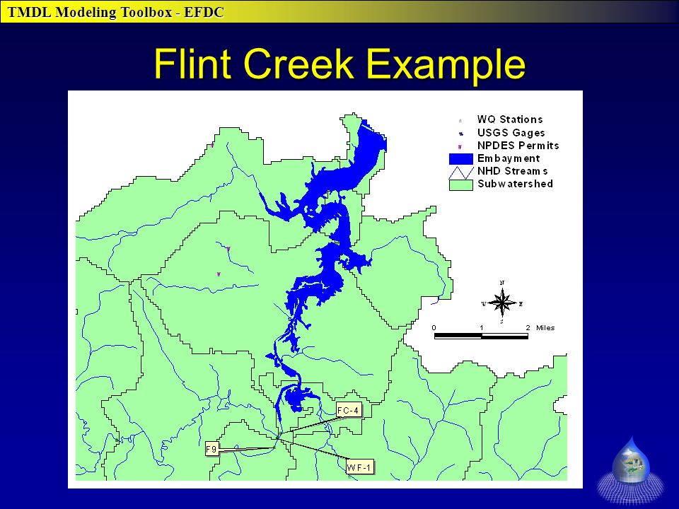 TMDL Modeling Toolbox - EFDC Flint Creek Example