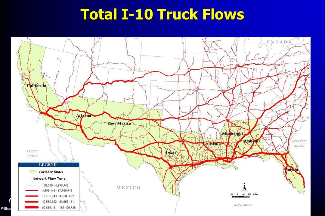 Total I-10 Truck Flows