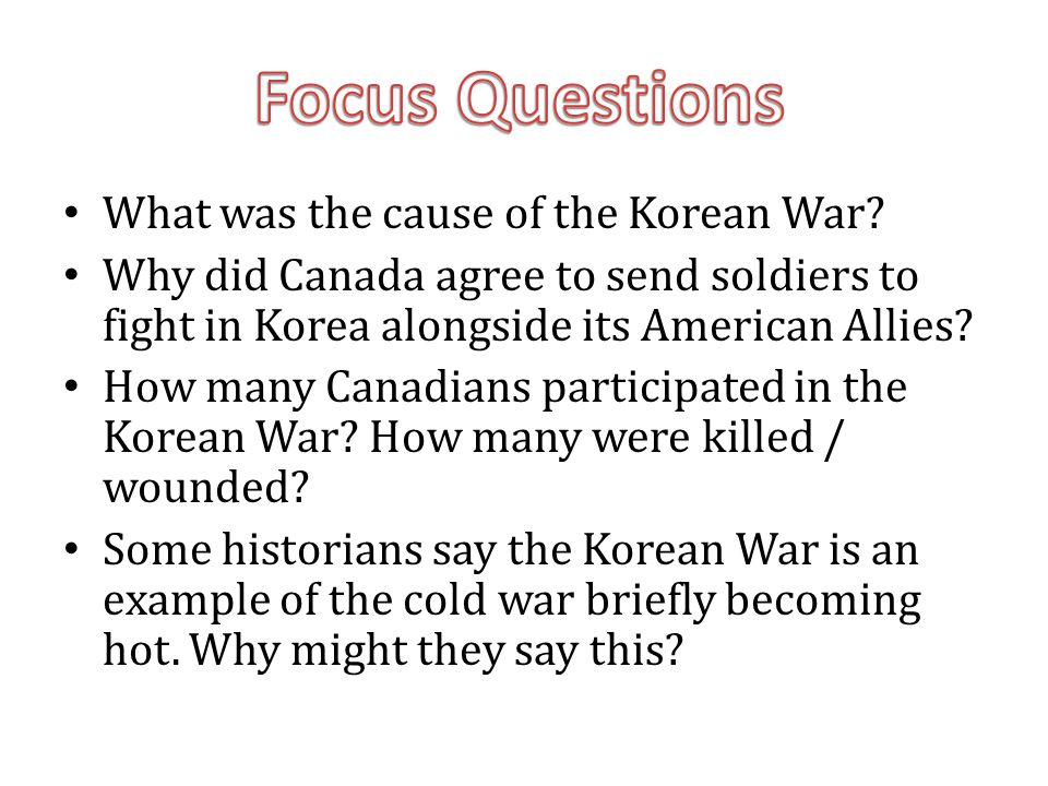What was the cause of the Korean War.