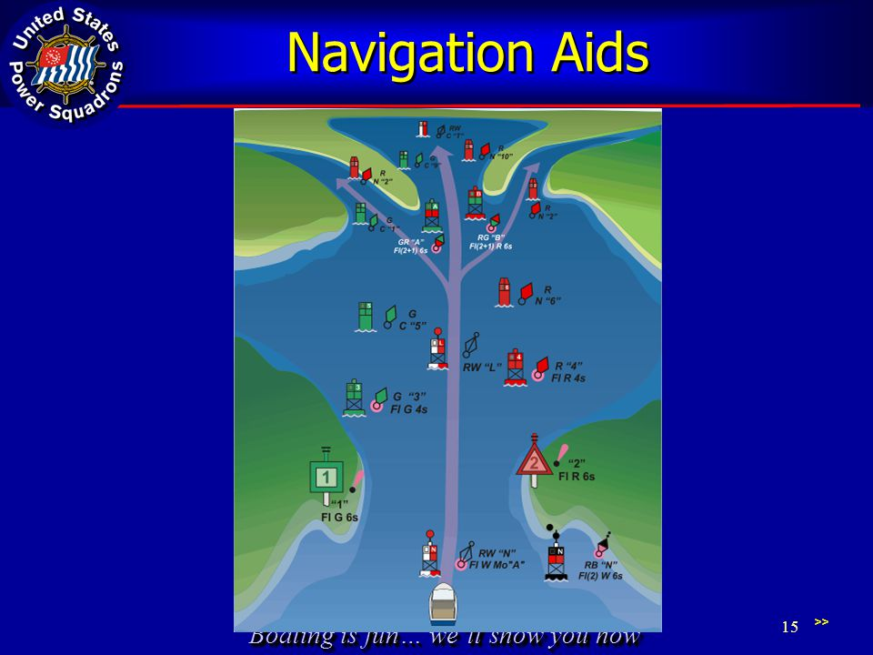 Boating is fun… we'll show you how Navigation Aids >> 15