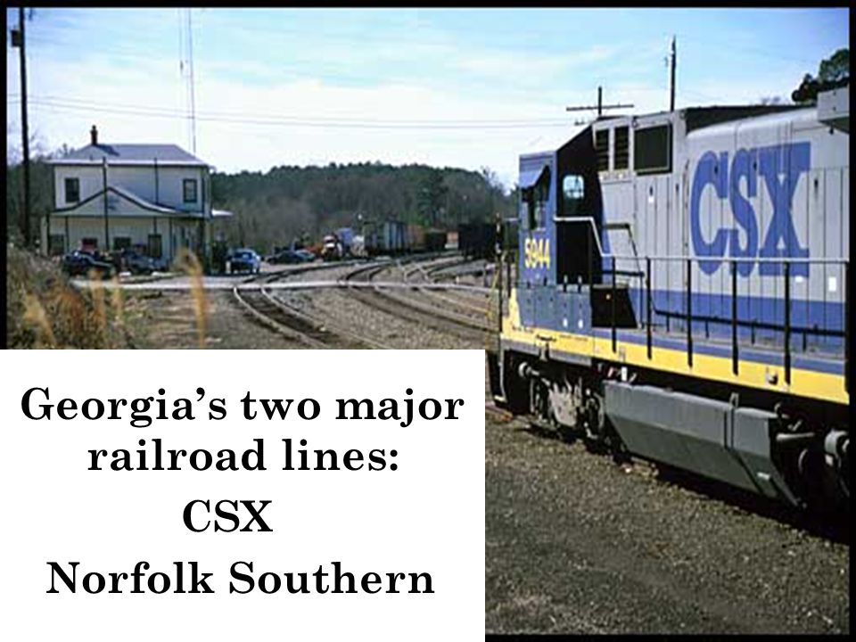 Georgia's two major railroad lines: CSX Norfolk Southern