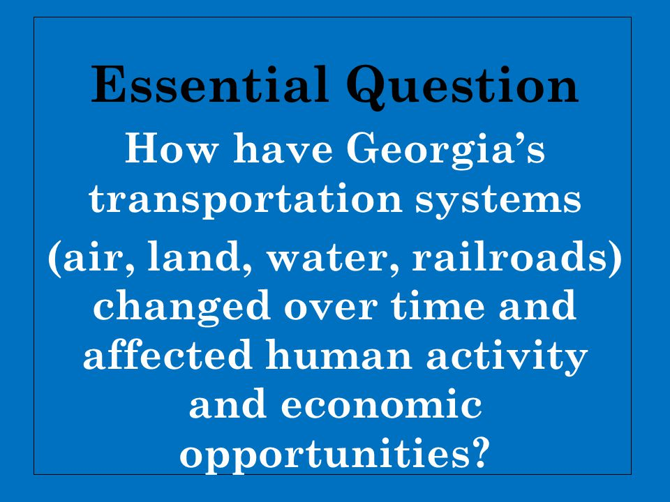  The railroads continued to expand  Today, the state s rail system is a strong, 5,000- mile network.