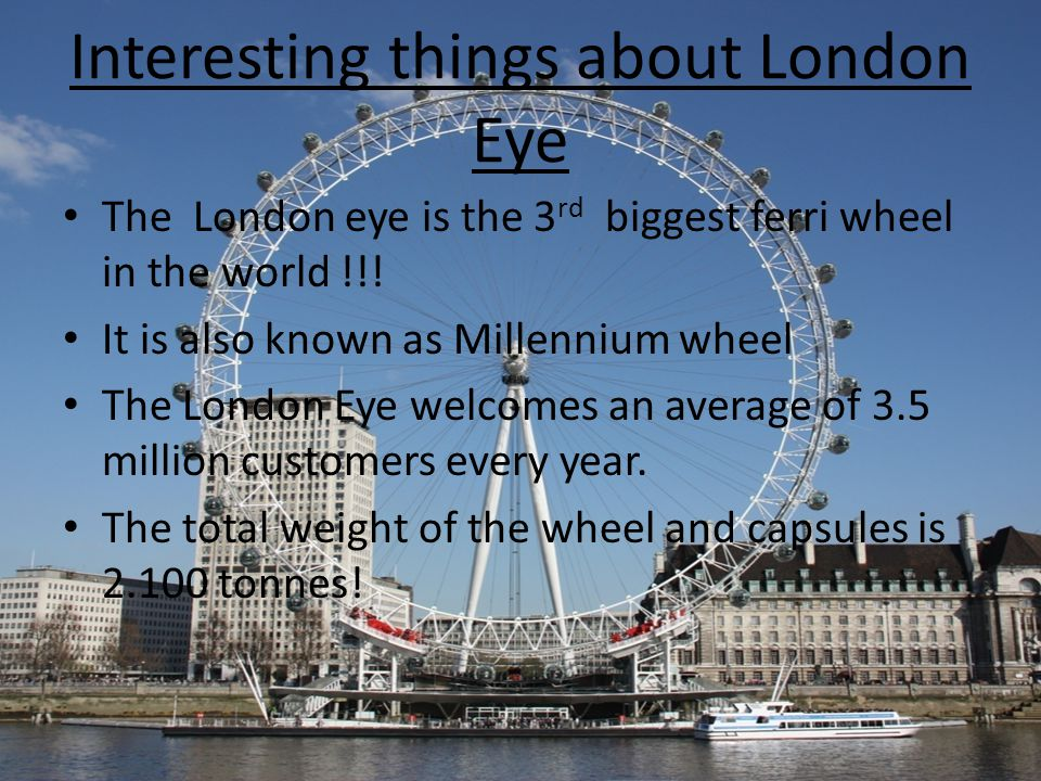 Images of London Eye at several moments