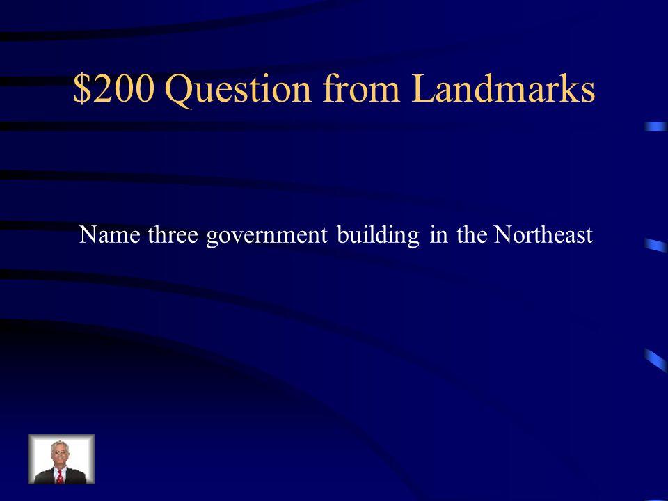 $100 Answer from Landmarks Washington D.C.