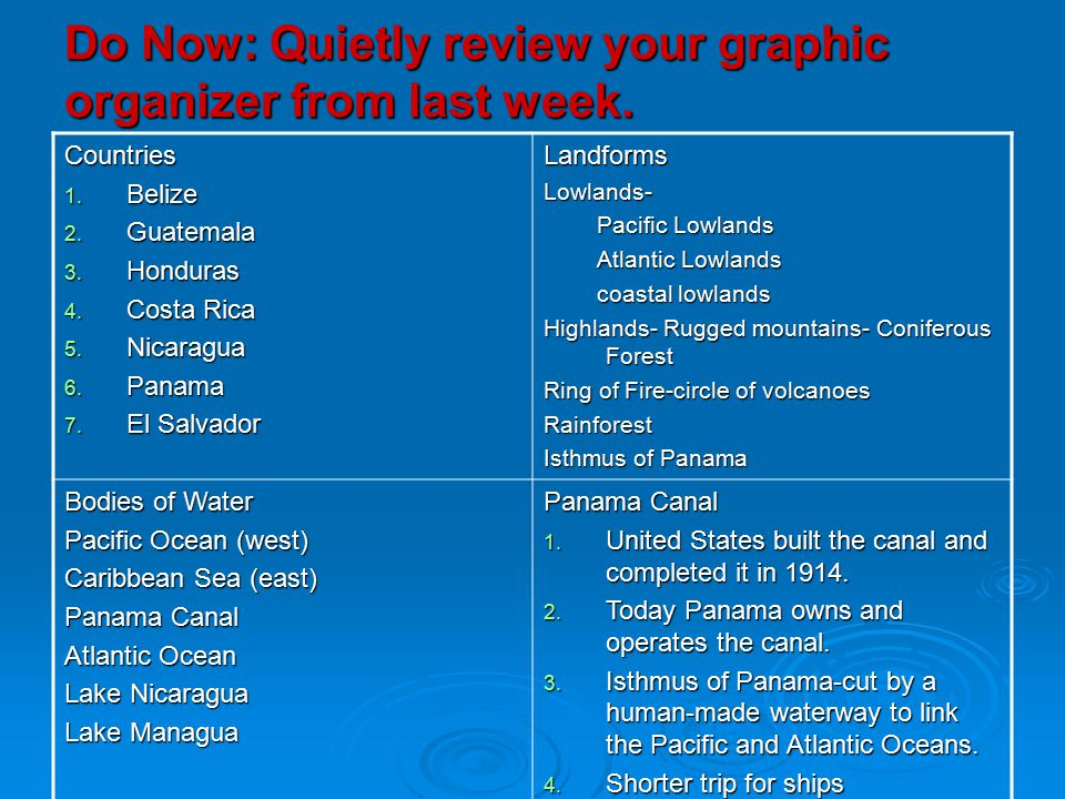 Do Now: Quietly review your graphic organizer from last week.