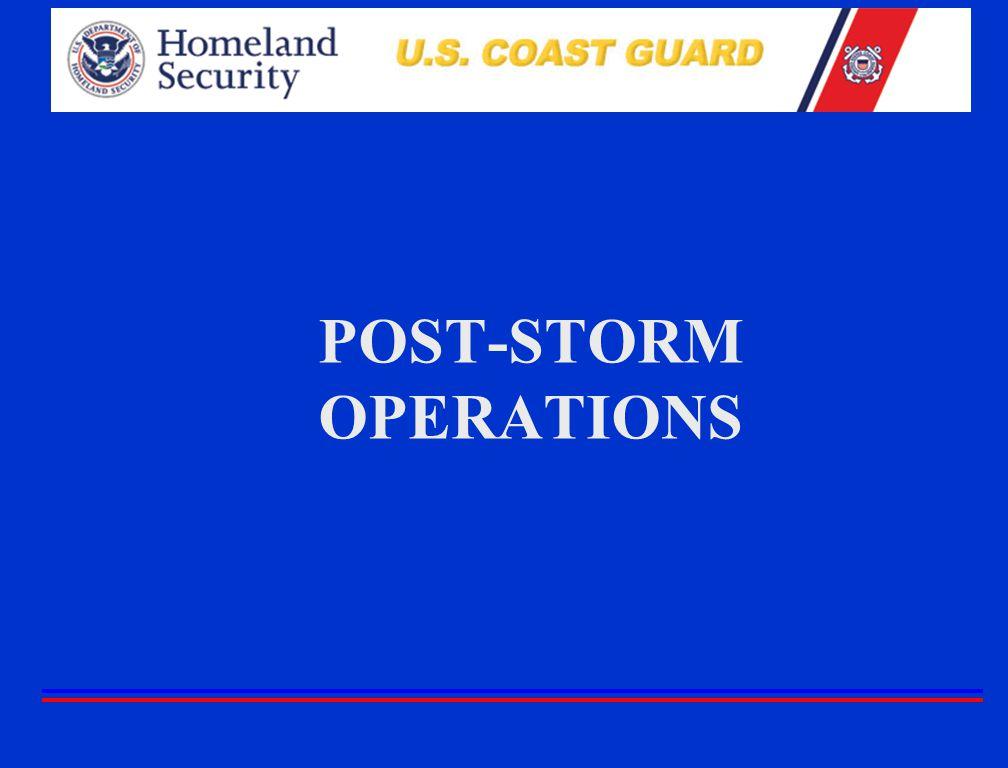 POST-STORM OPERATIONS