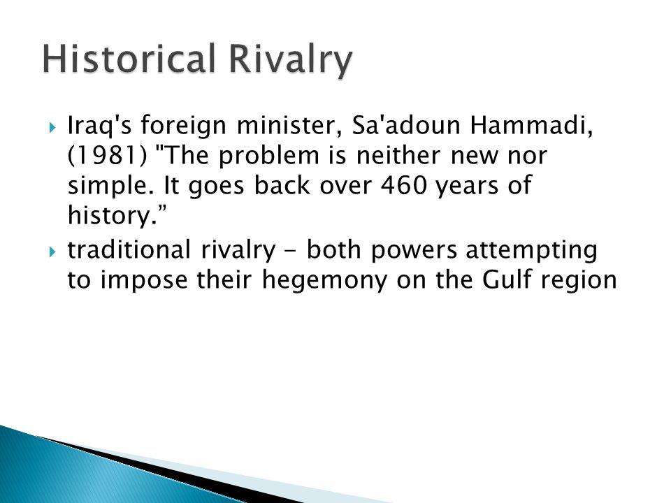  Iraq's foreign minister, Sa'adoun Hammadi, (1981)