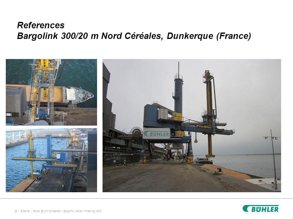 26 | © Bühler | References Bargolink 300/20 m Nord Céréales, Dunkerque (France) Bühler @ DCI Amsterdam | Bargolink | Adrian Hinderling | 2012