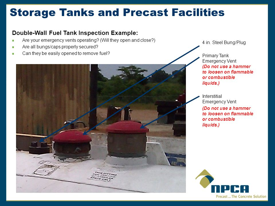 Storage Tanks and Precast Facilities 4 in.