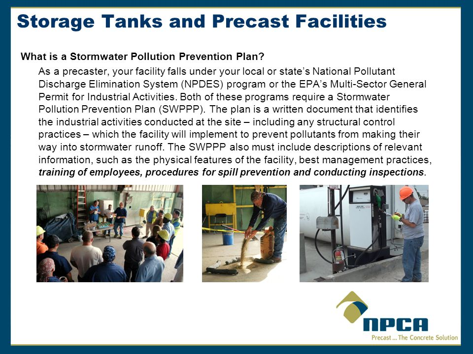 Storage Tanks and Precast Facilities What is a Stormwater Pollution Prevention Plan.