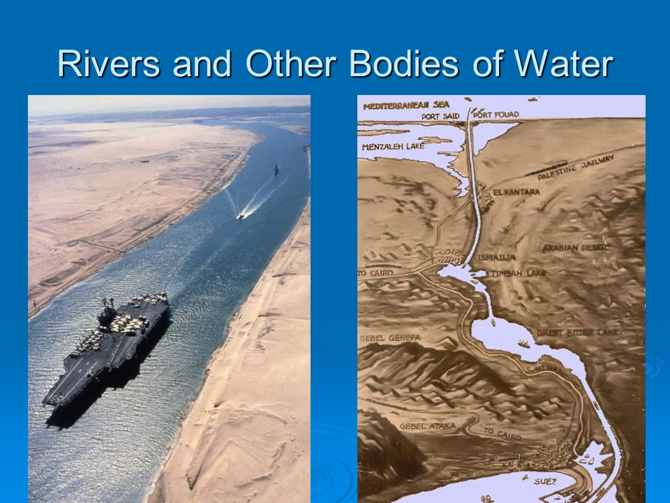 Rivers and Other Bodies of Water
