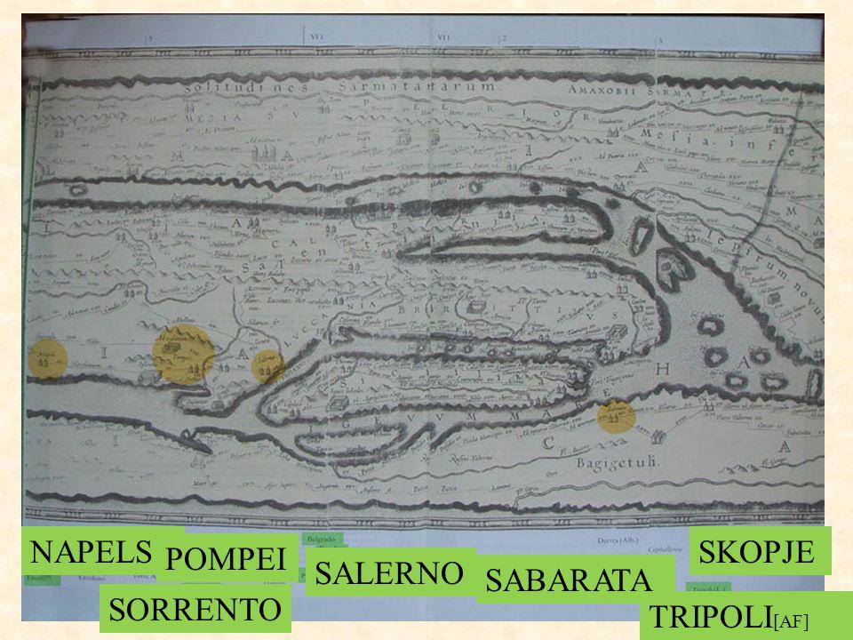 NAPELS SORRENTO POMPEI SALERNO SABARATA TRIPOLI [AF] SKOPJE