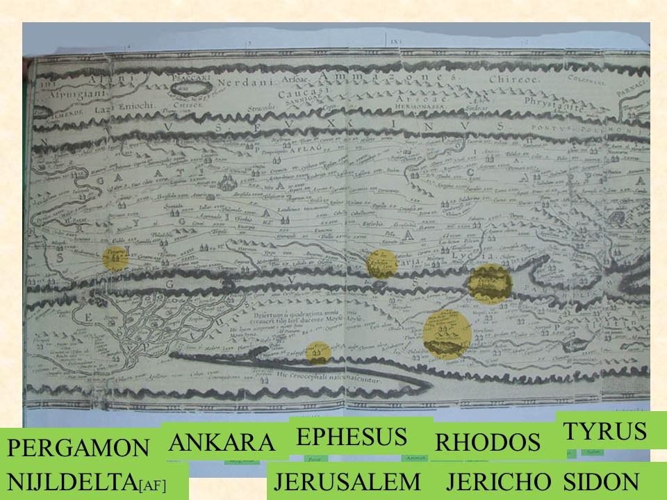 PERGAMON ANKARA EPHESUS RHODOS NIJLDELTA [AF] JERUSALEMJERICHO TYRUS SIDON