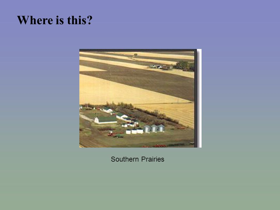 Where is this Southern Prairies