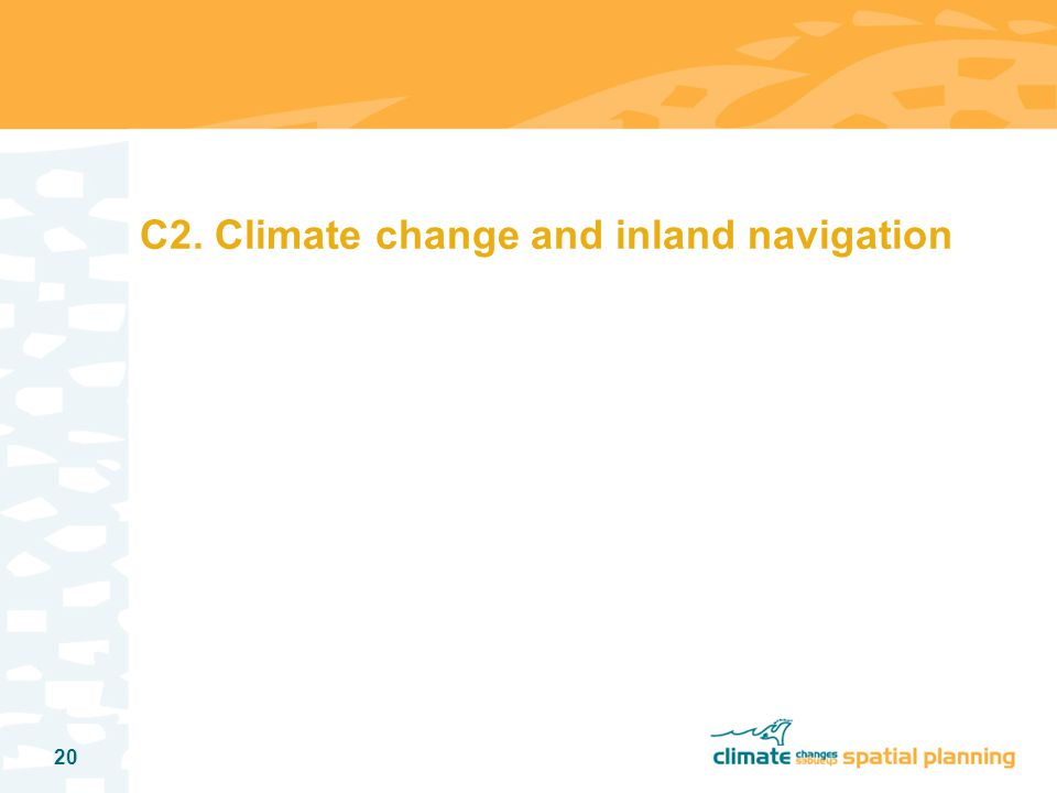 20 C2. Climate change and inland navigation