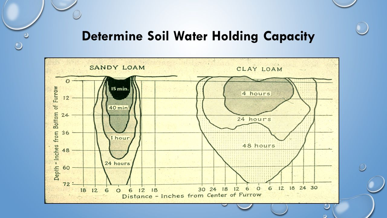Determine Soil Water Holding Capacity