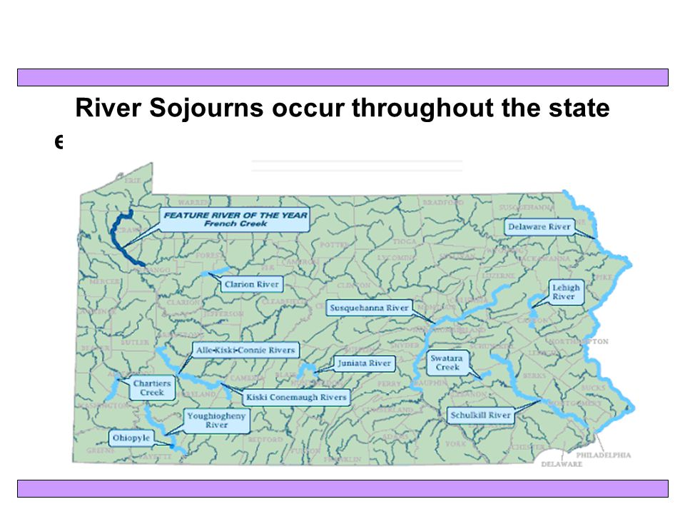 River Sojourns occur throughout the state each year during national June Rivers Month!