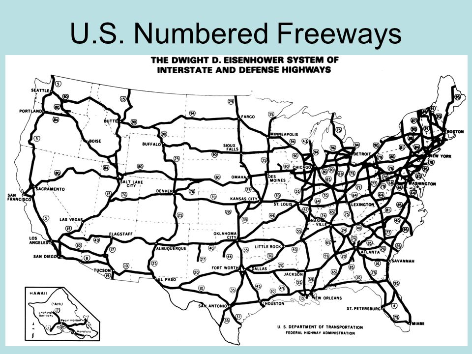 U.S. Numbered Freeways