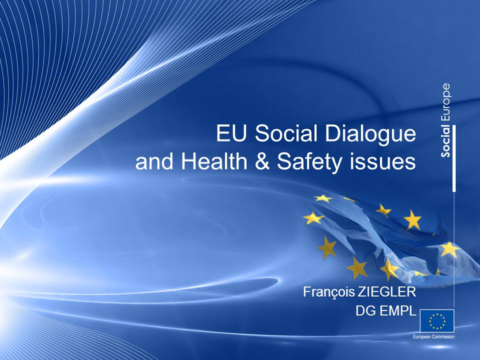 EU Social Dialogue and Health & Safety issues François ZIEGLER DG EMPL