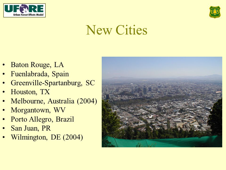 New Cities Baton Rouge, LA Fuenlabrada, Spain Greenville-Spartanburg, SC Houston, TX Melbourne, Australia (2004) Morgantown, WV Porto Allegro, Brazil