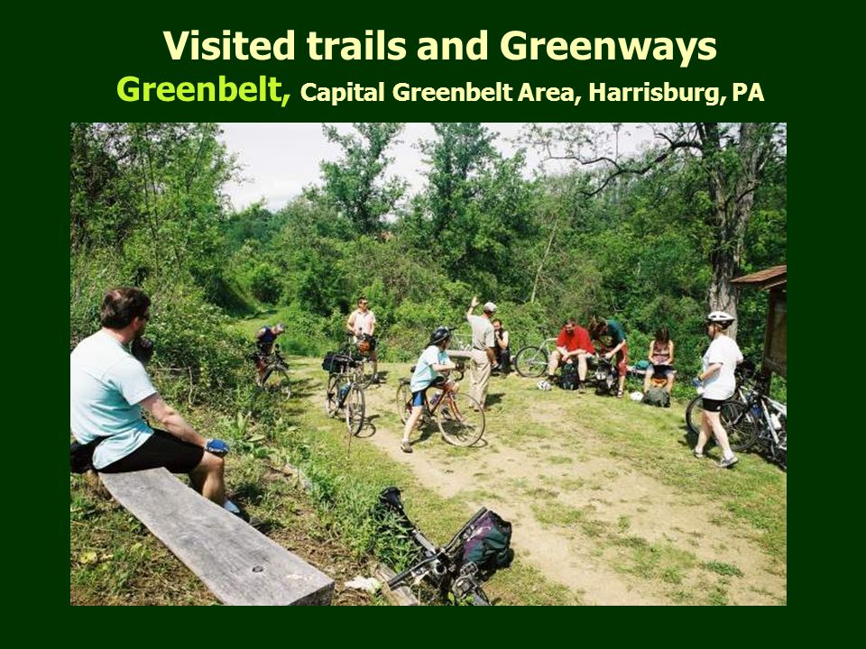 Visited trails and Greenways Greenbelt, Capital Greenbelt Area, Harrisburg, PA