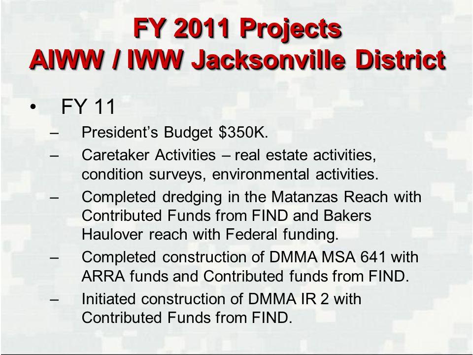 Florida Jacksonville Gulf of Mexico IWW Matanzas O&M IWW Bakers Haulover O&M Orlando Tallahassee Key West Pensacola Cocoa Ft.