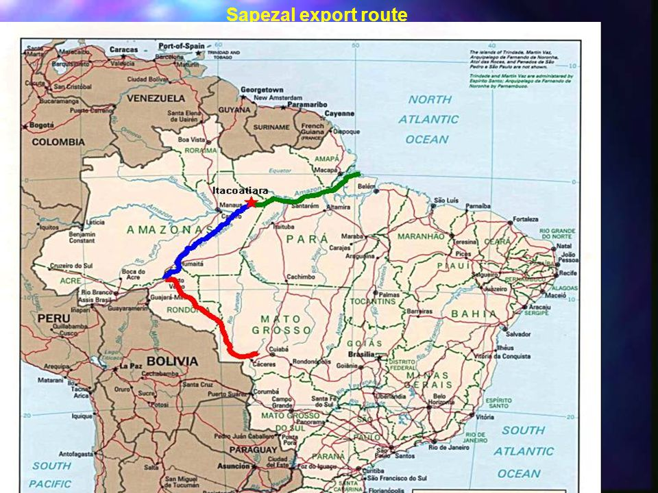 Sapezal export route
