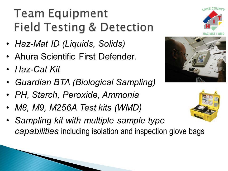 Haz-Mat ID (Liquids, Solids) Ahura Scientific First Defender.