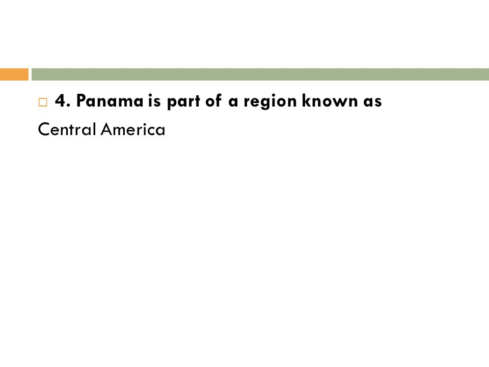  4.What is the Panama Canal.