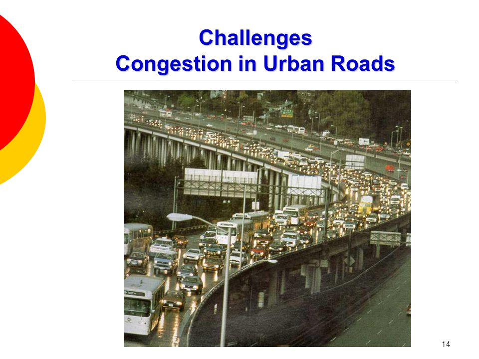 14 Challenges Congestion in Urban Roads
