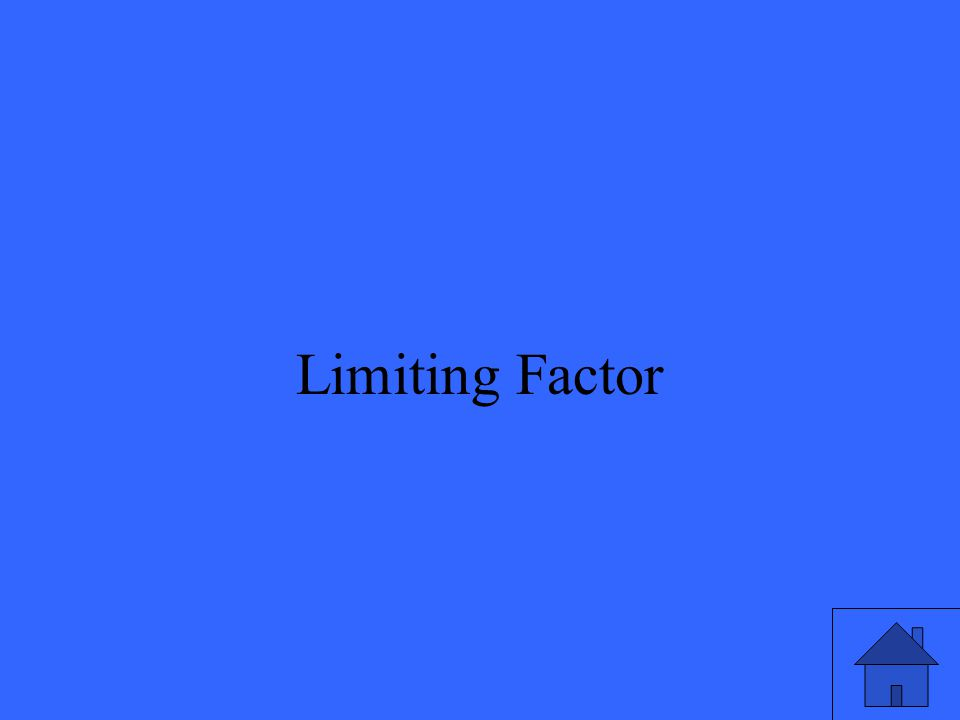 37 Limiting Factor