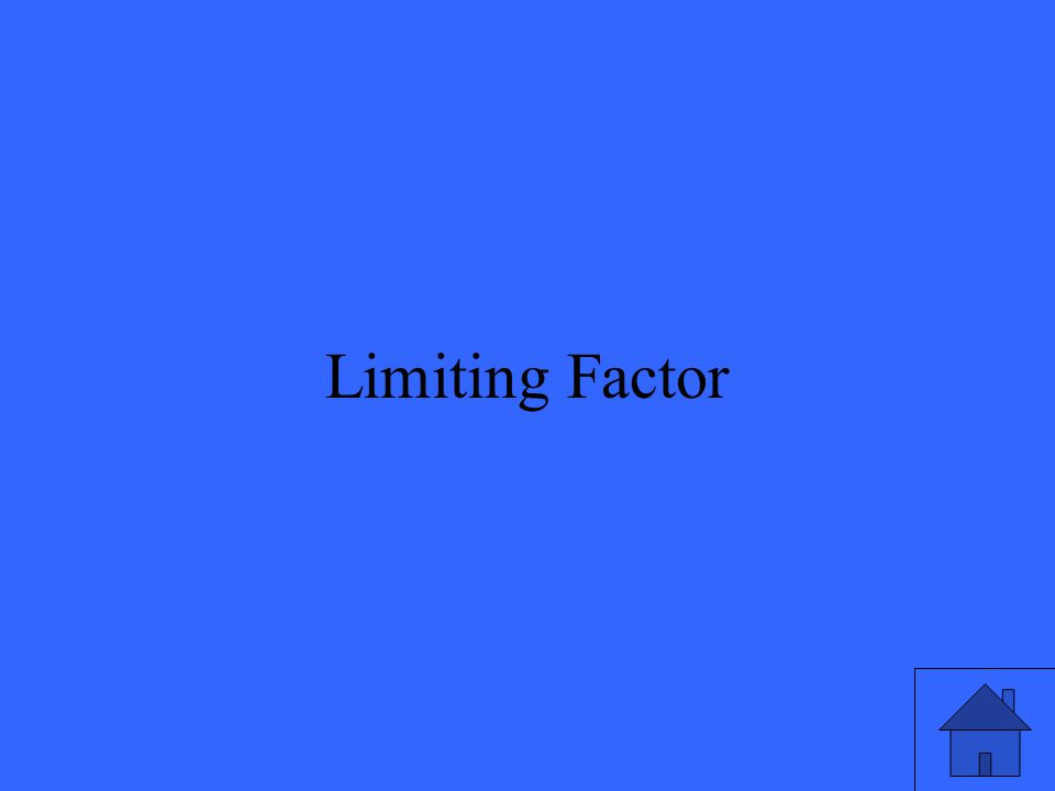 39 Limiting Factor