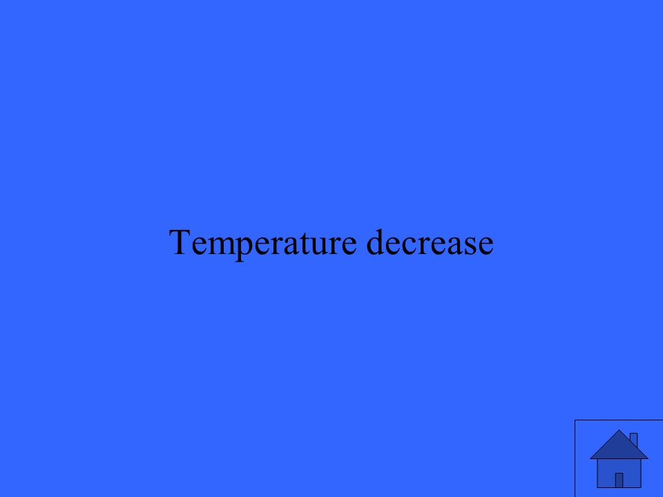 41 Temperature decrease