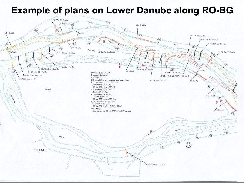 """12. October 06 """"Sustainable IWT on Danube"""", Bucharest page: 31 """"Needs for IWT, improvement of navigation conditions Example of plans on Lower Danube a"""